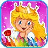 Princesse livre de coloriage pour les enfants, jeu de coloriage pour les filles, la maternelle et les filles tout-petits d'âge préscolaire, les enfants tous les âges. Belles images de princesses, chevaliers, châteaux, licorne, cheval, coeur....