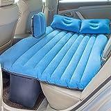 NEX Car Air Mattress Outdoor Air Cushion Bed Universal Inflatable Car Mattress for Travel and Sleep Rest (Color: Blue)