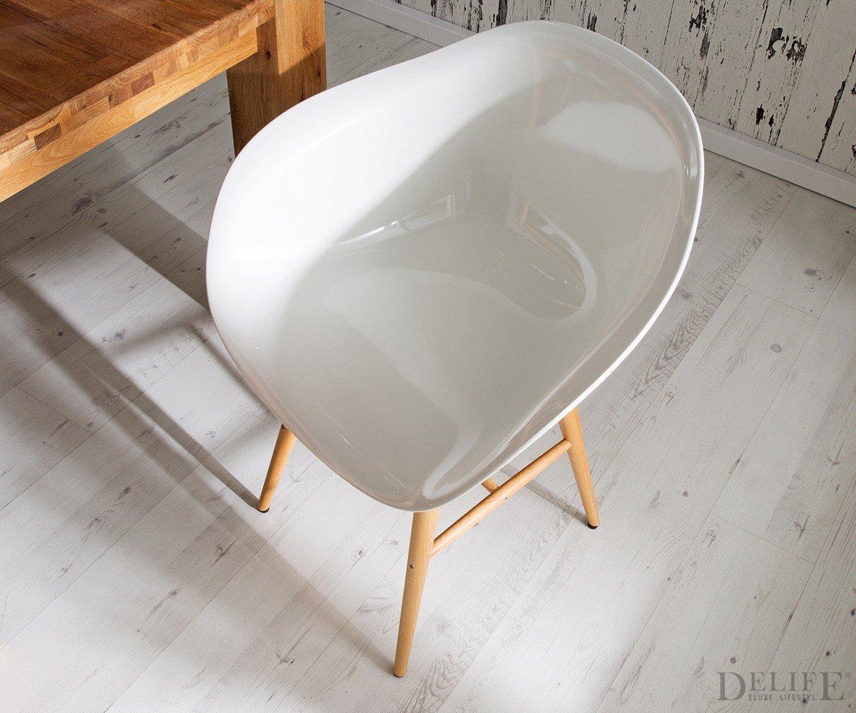 armlehnstuhl forum wood white holzbeine buche. Black Bedroom Furniture Sets. Home Design Ideas