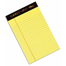 TOPS 63900 Docket Gold Legal Ruled Pad, 5 x8, Canary, 20#, 50 Sheets/Pad, 12/pack