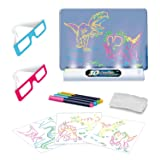 Magic pad for Kids Light up - 3D Light Up Drawing Board – Educational Dinosaur Doodle Magic Glow Pad with 2 3D Glasses - Gift for Kids/Toddlers Boys & Girls Ages 3 -12 Years Old (Tamaño: Decanter-Set of 496)