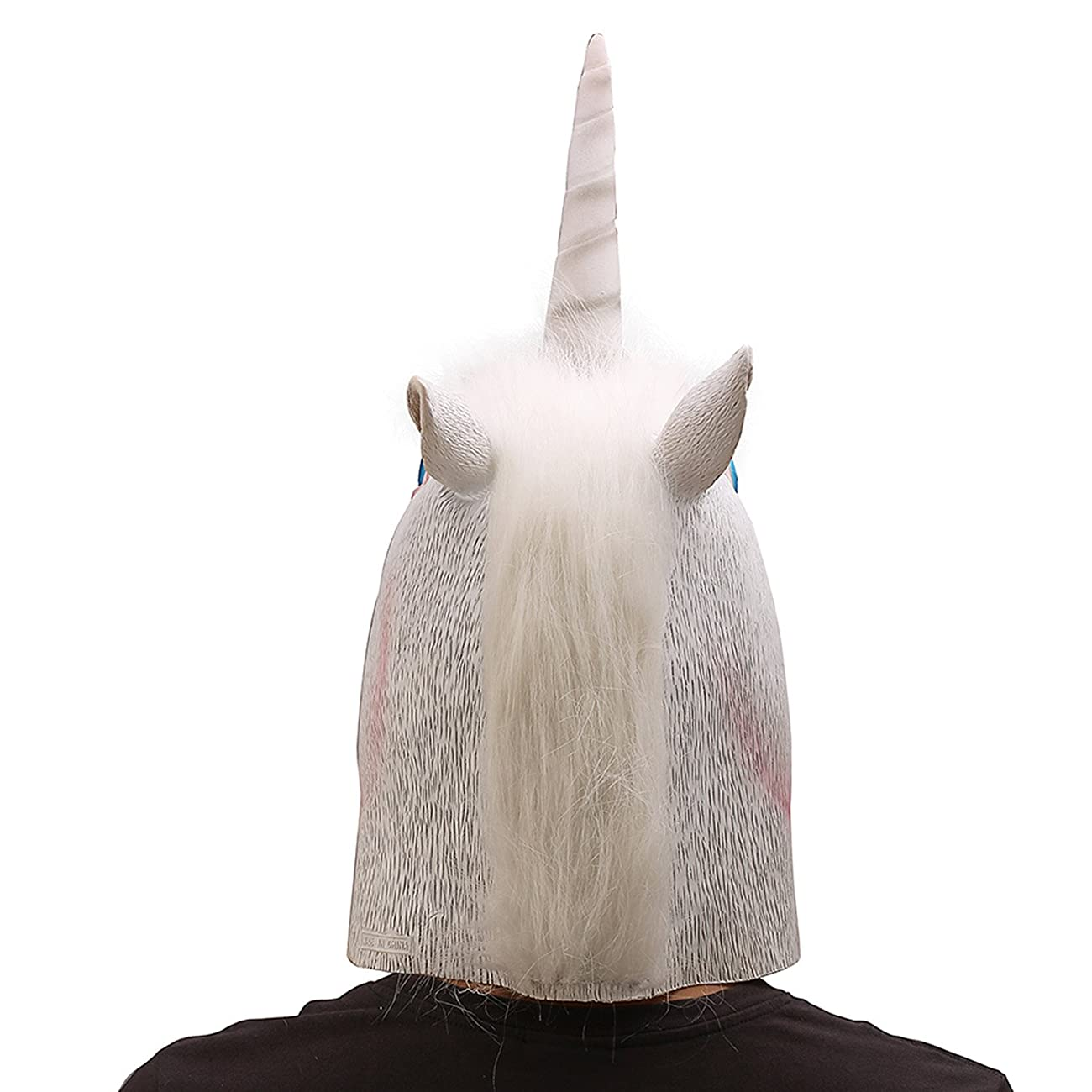 Ylovetoys Unicorn Head Mask Halloween Costume Party Novelty Latex Animal Mask 3