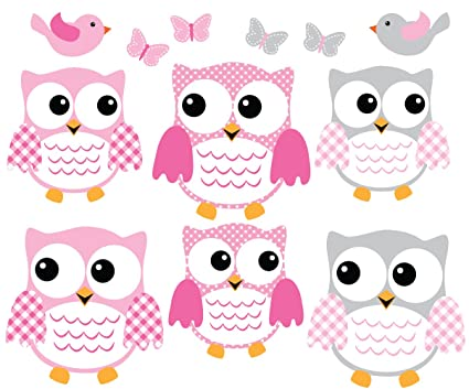 Nursery owl wall decals