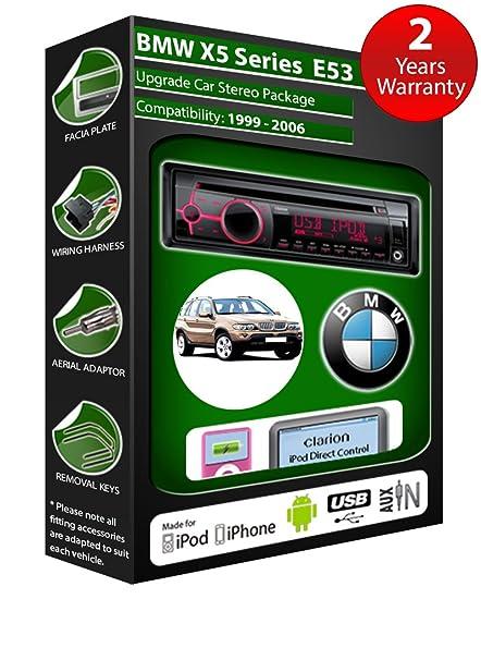 BMW X5 E53 de lecteur CD et stéréo de voiture radio Clarion jeu USB pour iPod/iPhone/Android