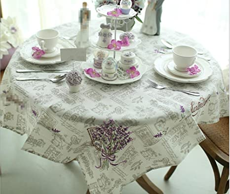 GFYWZ Mesa cuadrada de comedor con manteles de tela de algodón doméstico . rectangular 135x185cm