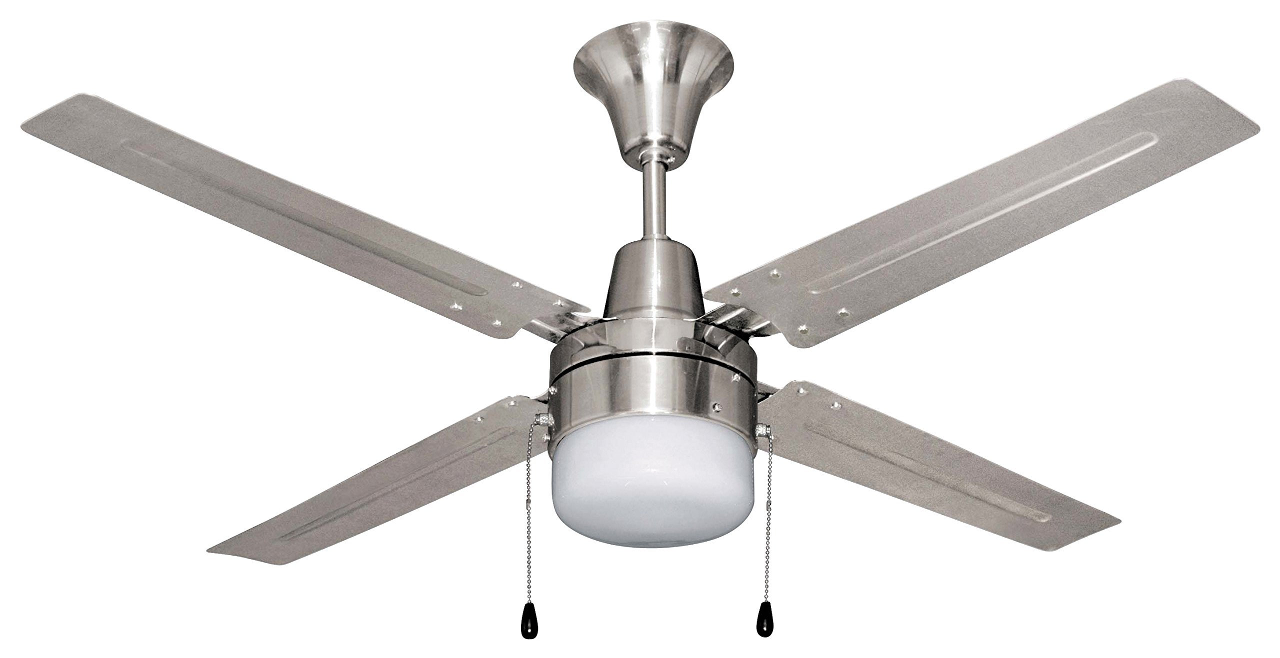 Four Blade Fan : Litex urbana inch ceiling fan with four brushed chrome