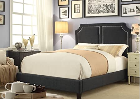 Millbury Home Sanibel Gunmetal Gray Queen Upholstery Platform Bed