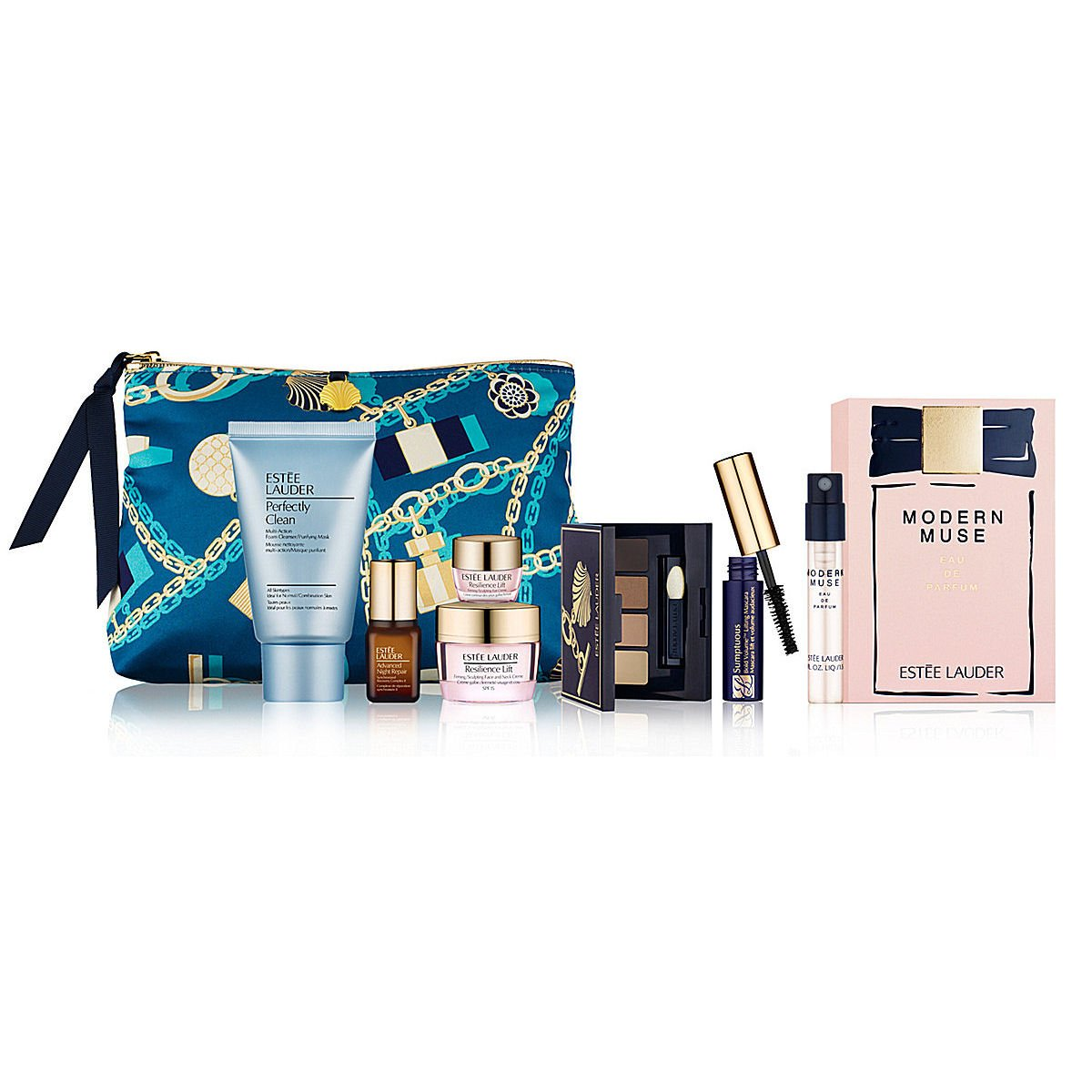 Estee-Lauder-2014-8-Pcs-Skincare-Makeup-Gift-Set-with-Cosmetic-Bag-Plus-New-Modern-Muse