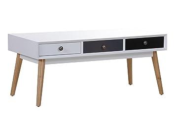 Stylefurniture 62076 Couchtisch, weiß/schwarz, 105 x 50 x 45 cm