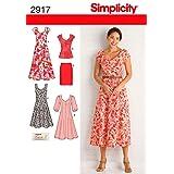 Simplicity 2917 Dress and Tunic Sewing Pattern for Women by Karen Z ,Sizes 20W-28W (Tamaño: BB (20W-22W-24W-26W-28W))