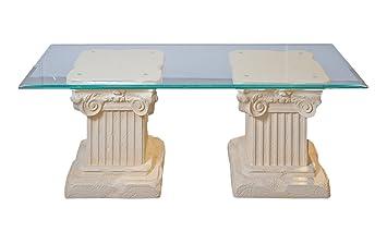 Couchtisch Wohnzimmertisch Glastisch Säulentisch Steintisch
