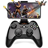 Wireless Gamepad Controller, Megadream iOS MFi Gaming Joystick with Clamp Holder for iPhone Xs, XR X, 8 Plus, 8, 7 Plus, 7 6S 6 5S 5, iPad, iPad Pro Air Mini, Apple TV - Direct Play (Color: Black2)