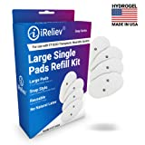 iReliev Wireless Electrode Pads Refill Kit, 4 Pads Per Box, Fits ET-5050 Wireless TENS EMS Receiver Pods, Snap Style Electrodes