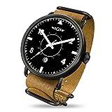 SGS Eagle ABWC - Men's Automatic Sapphire Crystal Pilot Watch (Color: Black White Camel)