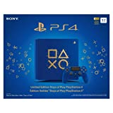 Sony PlayStation 4 1TB Limited Edition Days of Play Console Bundle, Blue - PlayStation 4 (Color: Blue, Tamaño: Days of Play Limited Edition Blue)
