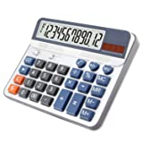 Extra Large Display Desktop Calculator, OFFIDIX Desk Calculator, Financial Accounting Style Electronic Calculator Portable 12 Digit Calculator (Battery Included)