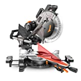 TACKLIFE Sliding Miter Saw, 12inch 15Amp Double-Bevel Compound Miter Saw with Laser, Adjustable Cutting Angle, Extensible Table, 3800rpm, Clamping Device,10ft/3Meters Cable, 40T Blade - PMS03A (Color: Black, Tamaño: 12inch)