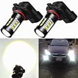 Alla Lighting Extreme Super Bright H10 9145 LED Bulb Fog Light High Power 80W Cree 12V LED 9145 Bulbs for 9140 9040 9045 H10 9145 Fog Light Lamp Replacement, 6000K Xenon White (Set of 2) (Tamaño: H10 (9145 9140))