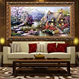 Docooler® Cross Stitch DIY Handmade Needlework Set Embroidery Kit Precise Printed Big Tree Pattern Cross-Stitching 120 * 57cm Home Decoration (H11781) (Color: Type 2)