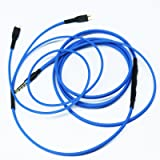 NEW NEOMUSICIA Replacement Cable Compatible with Sennheiser HD25 HD 25-1 HD25-1 II HD25-13 HD25-C Headphone, Remote Volume Control & Mic Compatible with Apple iPhone iPod ipad iOS only Blue (Color: Blue)