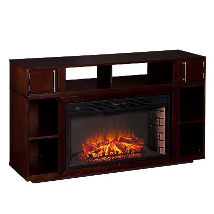 Southern Enterprises Bairnsdale Media Fireplace, Espresso