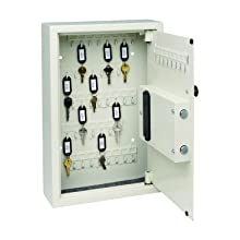MMF Industries Steelmaster Security Electronic Key Cabinet, 11.75 x 17.34 x 4 Inches, Sand, 48-Key Capacity (20101)