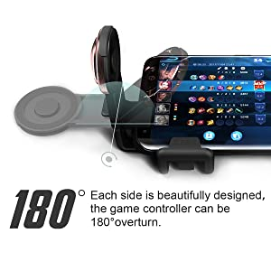 Mobile Phone Joystick Gaming Controller, GEE·D J039 360 Analog Touch Screen Game Joypad Ergonomic Thumb Stick for 4.0-6.0 inch Android and IOS Smartphones - Black (Color: Black)