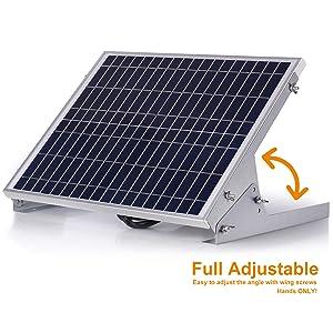 SUNER POWE Adjustable Solar Panel Mount Racks - Folding Mounting Tilt Brackets for Wall, Roof, RV and Off Grid Solar System (Tamaño: 20W/30W)