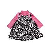 Rare Editions Baby-girls Infant Zebra Print Corduroy Jumper With Bodysuit