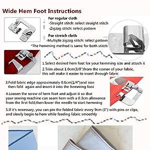 Windman 3 Sizes Wide Hem Presser Foot Fabric Hemming Sewing Set Snap On Sewing Hem Foot 1/2 Inch, 3/4 Inch, 1 Inch Low Shank Sewing Machine Presser Foot for Brother Singer (Color: Wide Rolled)