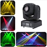 Rainiers LED Moving Head Light Spot 8 Color Gobos Light 25W DMX with Show KTV Disco DJ Party for Stage Lighting. (Tamaño: 10W GOBO)