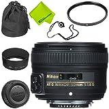 Nikon AF-S NIKKOR 50mm f/1.8G Lens Base Bundle (Color: 50MM 1.8G, Tamaño: Base)