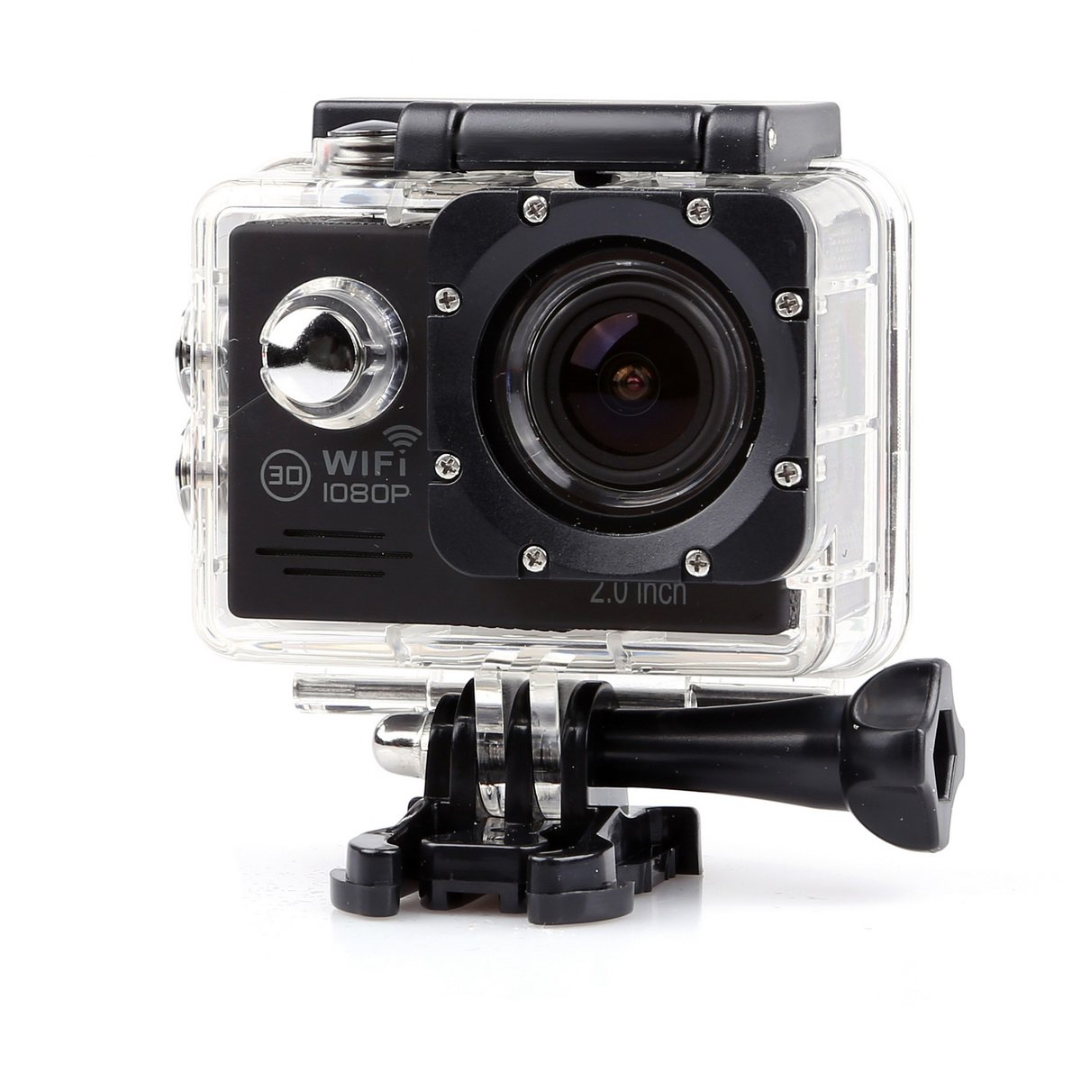 "Lightdow LD6000 1080P HD Wifi Sports Action Camera Kit - 2.0"" LCD + 170° Wide Angle Lens + NT96655 (Black+WiFi)"