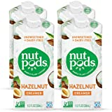 nutpods Dairy-Free Creamer Unsweetened (Hazelnut, 4-pack) - Whole30 / Paleo / Keto / Vegan / Sugar Free