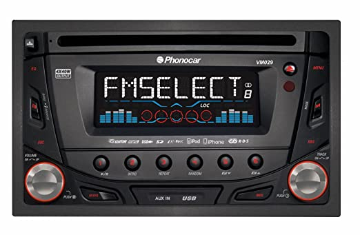 Phonocar VM029 Autoradio CD/MP3 USB Noir