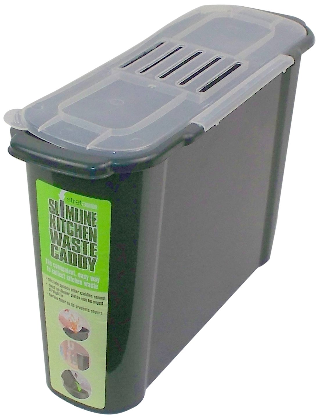 Slim Kitchen Recycled Plastic Compost Caddy
