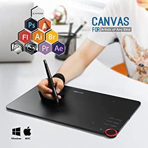 Drawing Tablet, XP-PEN DECO-03 Wireless Graphic Tablet with