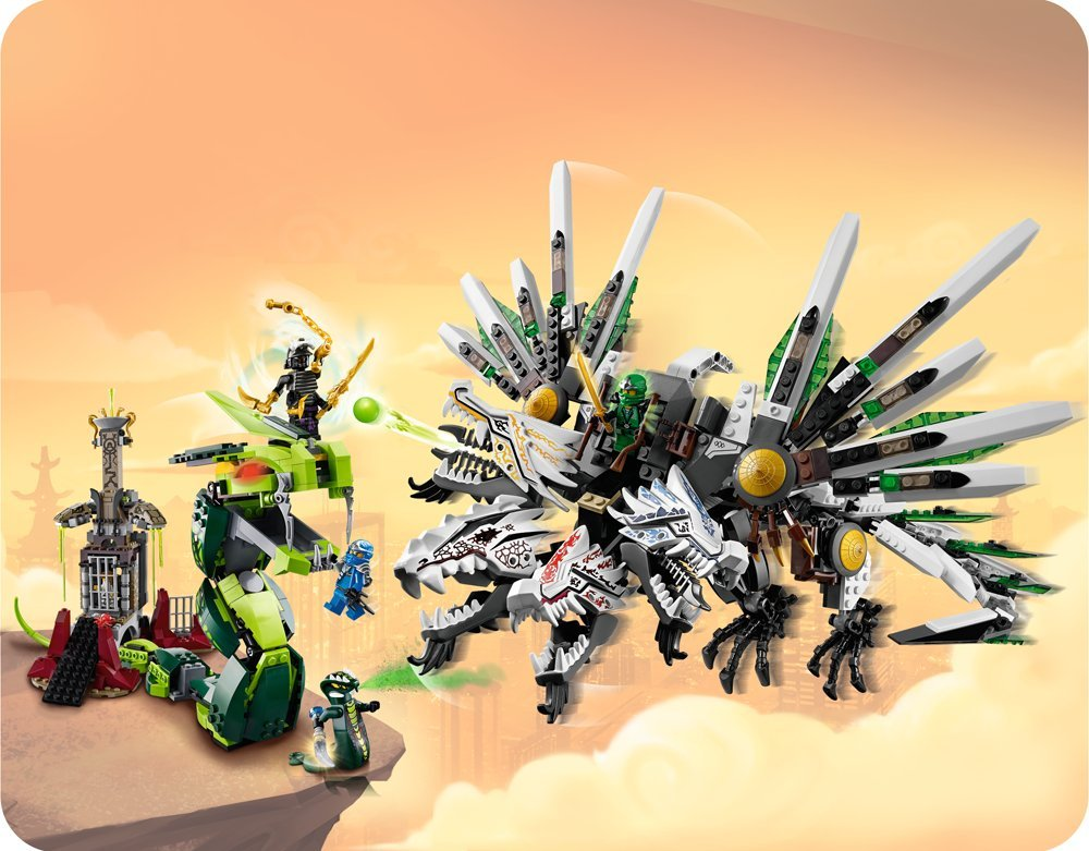 Lego 9450 ninjago epic dragon battle toy building block - Lego ninjago 4 ...