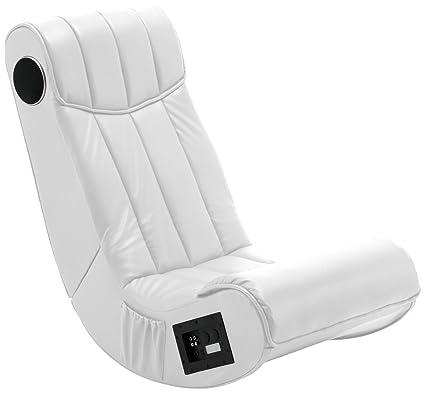 AC Design Furniture 22696 Henk - Sillón con equipo de audio incorporado (piel sintética), color blanco