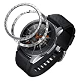 BaiHui Compatible Galaxy Watch Bezel Ring 46mm / Galaxy Gear S3 Frontier & Classic Bezel Ring,Stainless Steel Bezel Ring Protection Cover for Galaxy Watch Accessory (S-01 + S-04) (Color: S-01 + S-04)