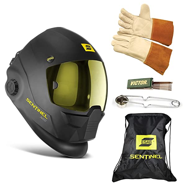 ESAB Sentinel A50 Automatic Welding Helmet, BAG, TIG GLOVE, STRIKER, TIP CLEANER 0700000800