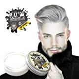 Play 'Do Temporary Hair Color, Hair Wax, Hair Clay, Mens Grooming, Gray hair, Pomade,White hair dye(1.8 ounces) … (Color: gray)