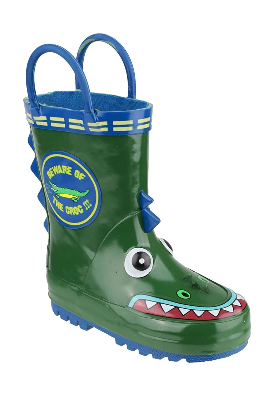 Cotswold Boys Kinder Regenanzug Puddle Gummistiefel Stiefel Gummistiefel Slipper Krokodil günstig online kaufen