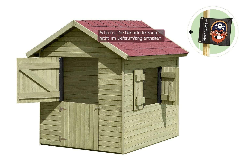 Kinderspielhaus Marie 1,5 x 1,2 m x 1,60 aus Holz von Gartenpirat® jetzt kaufen