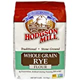 Hodgson Mill Whole Grain Rye Flour 5-Pound Sacks (Pack of 6), Traditional Stone-Ground Whole Grain Rye Flour, for Rye or Pumpernickel Bread (Tamaño: 5 Pound (Pack of 6))