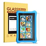 SPARIN Fire Kids Edition/Fire 7 Inch (2015) Screen Protector, Bubble-Free Tempered Glass Screen Protector ONLY for Fire 7 Inch Tablet (5th Gen, 2015 Release) (Color: Clear)