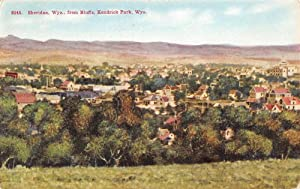 Sheridan, Wyoming from bluffs at Kendrick Park