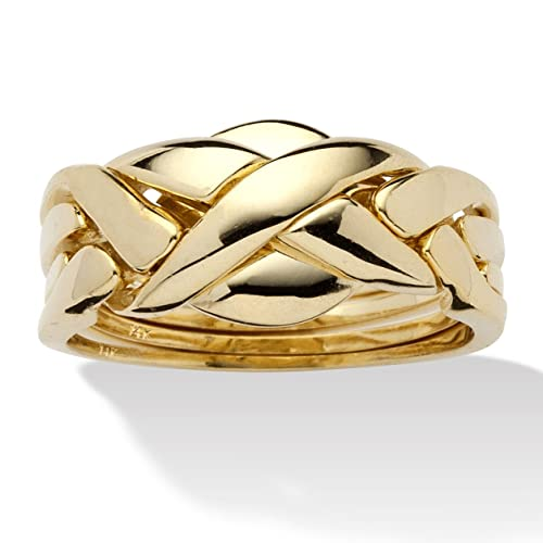 14k-Yellow-Gold-Plated-Interwoven-Puzzle-Ring