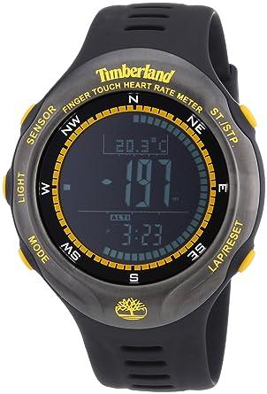 Timberland - TBL.13386JPBU 02 - Montre Homme - Quartz Digitale -  Altimètre Moniteur de fréquence cardiaque Chronomètre Chronomètre -  Bracelet plastique ... 5de0ee866ac8