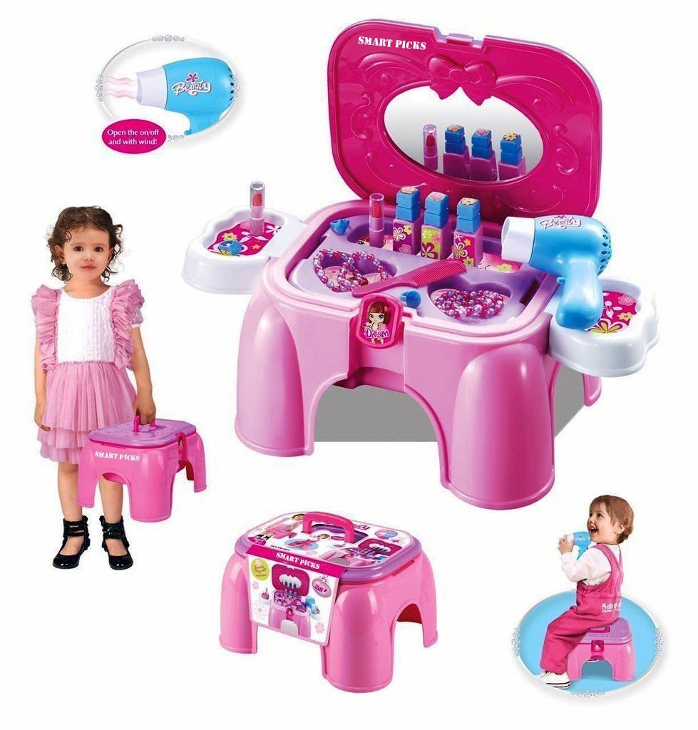 Minimum 25% Off On Toys Bonanza By Amazon | Sunshine Carry Along Beauty Set Toy with Sitting Stool @ Rs.854